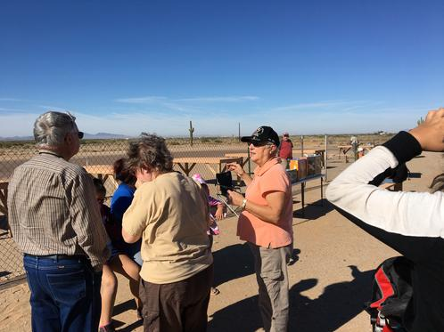 Visitors Chat And Watch The Flights During National Model Aviation Day, November 12, 2016