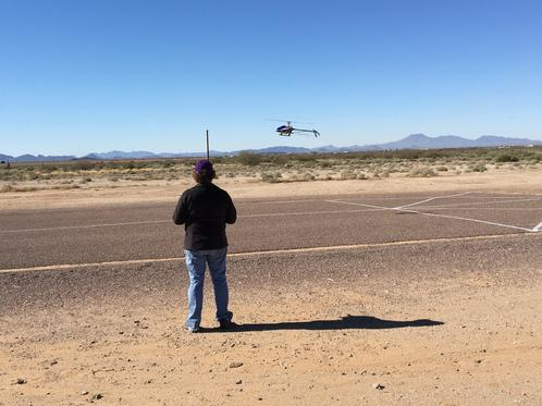 Club Member, Kandice, Flying Her Helicopter During Our Drone & Helicopter Day Event